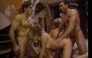 Retro video of amazing foursome with Sindee Coxx and Nici Sterling